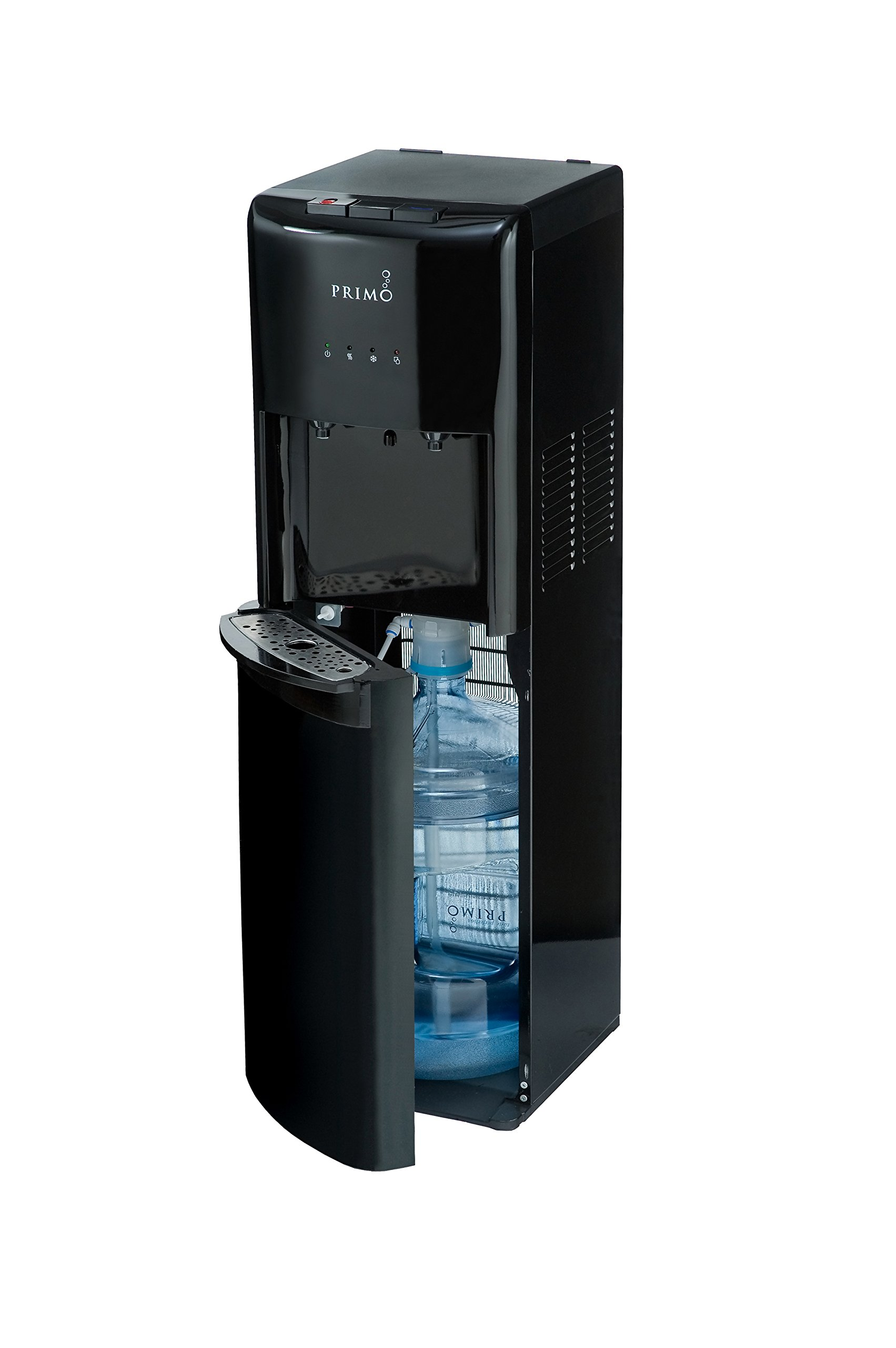 Primo Bottom Loading Water Cooler - 2 Temperature Settings, Hot & Cold - Energy Star Rated Water Dispenser with Child-Resistant Safety Feature Supports 3 or 5 Gallon Water Jugs [Black] by Primo