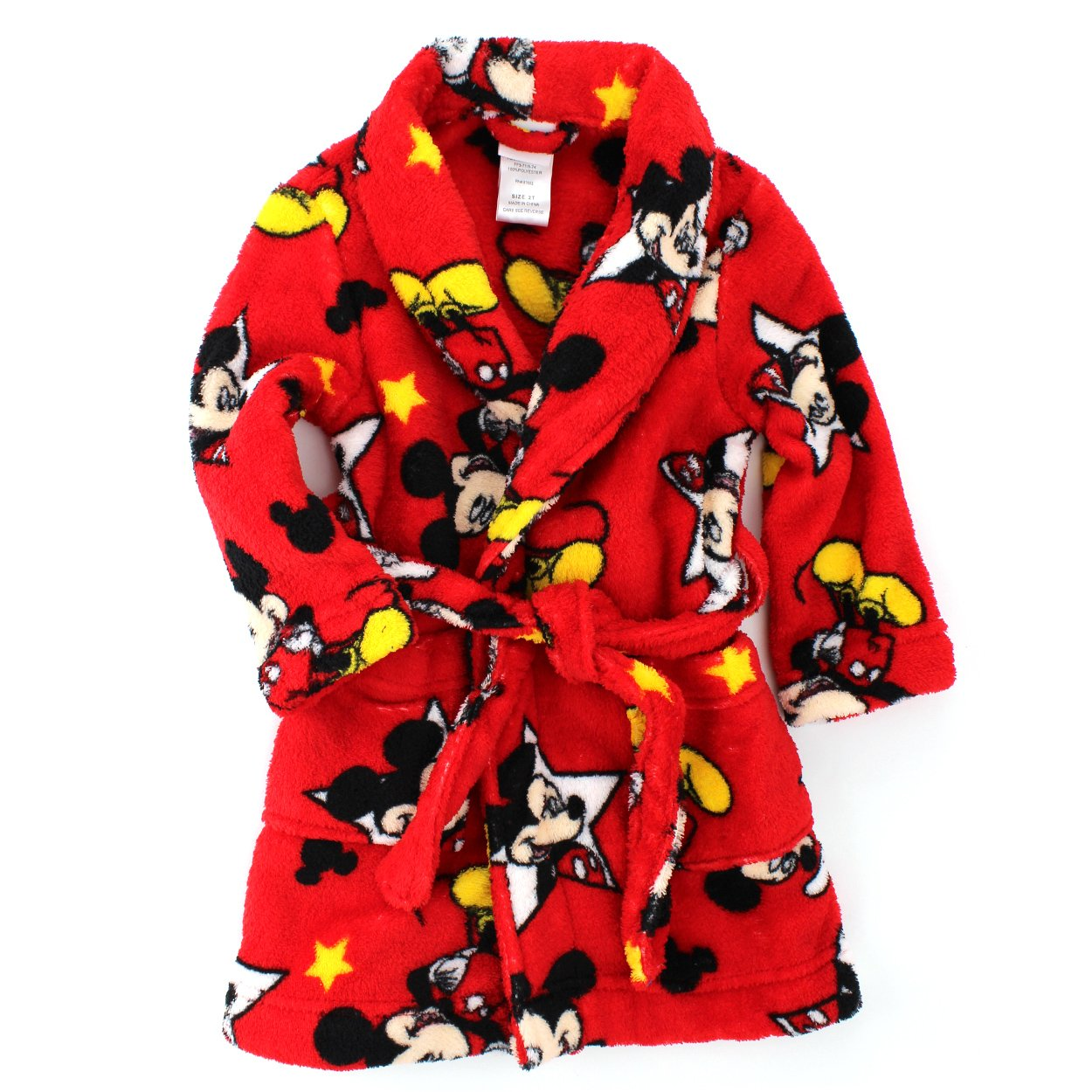 Mickey Mouse Toddler Red Fleece Robe MK024ERL