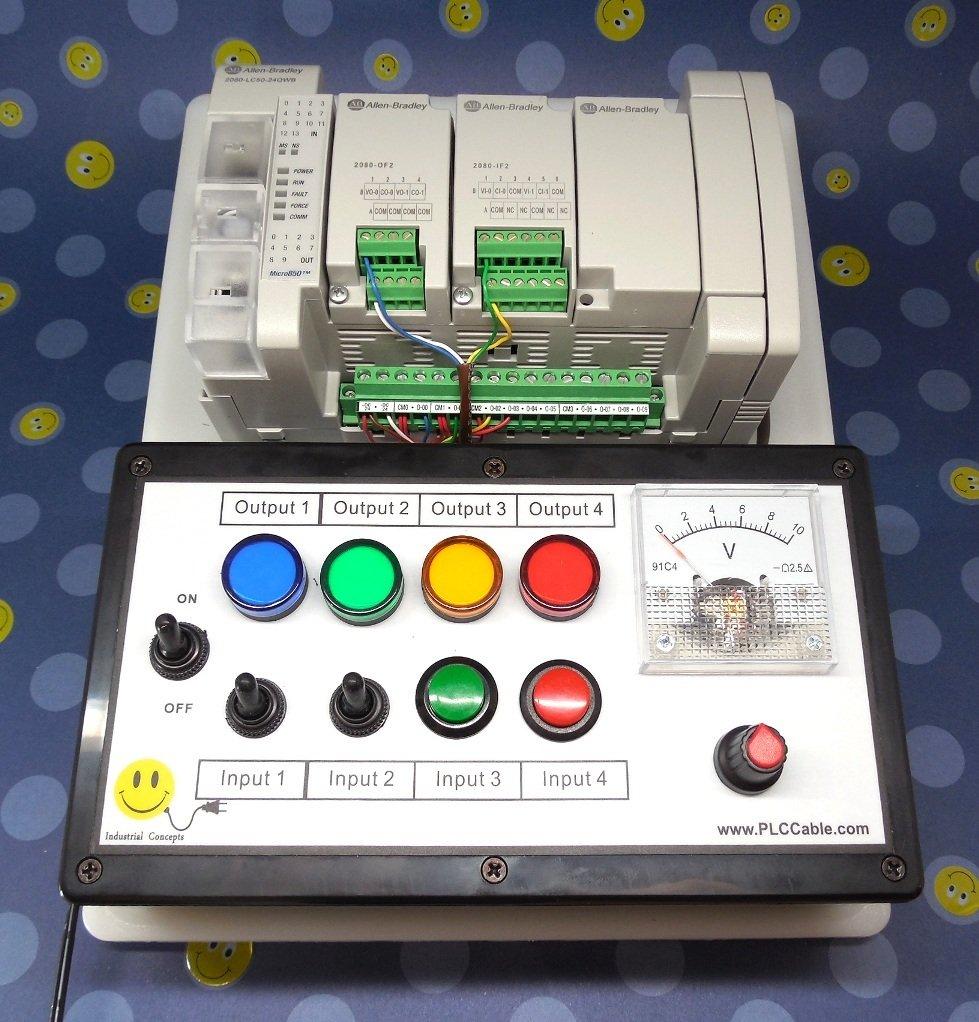 Allen Bradley Micro850 Programmable CCW PLC Trainer ~ Micro800 Training Starter Kit Analog