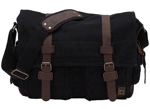 Amazon.com | Men's Shoulder Bag, Berchirly Vintage Military Men ...