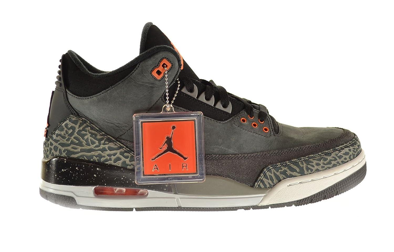 13abea1aac0 Amazon.com   Jordan Air 3 Retro Fear Pack Men's Shoes Night Stadium/Total  Orange-Black-Natural Grey 626967-040   Basketball