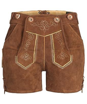 Costume   Splendeur – Femme 100% daim – Costume Pantalon en cuir courte Hot  Pants 64cf9afaa17
