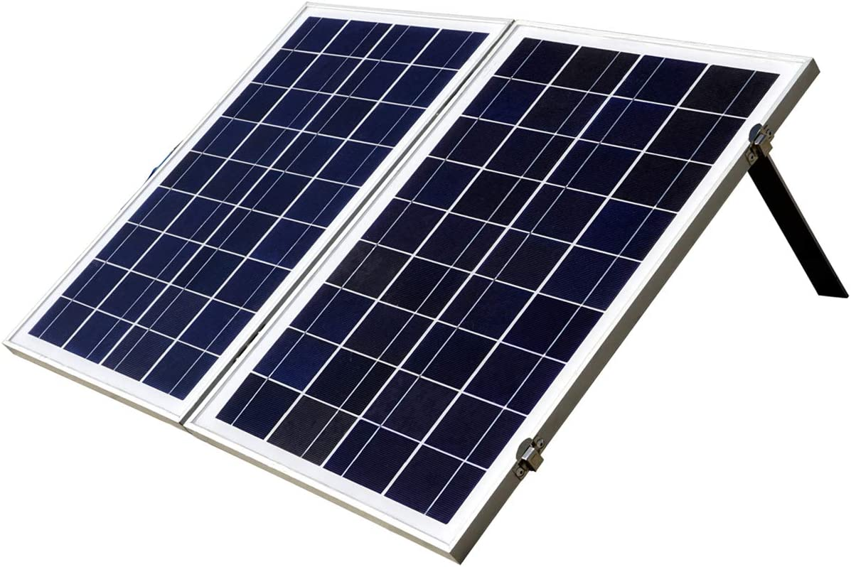 ECO-WORTHY 12 Volts Portable Foldable Solar Panel Kit Solar Suitcase Battery Charger 40W, Poly White