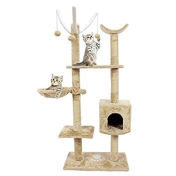 TataYung - Árbol ejecutivo para gato de 4 pies para gatos, diseño de torre de árbol de gato: Amazon.es: Productos para mascotas