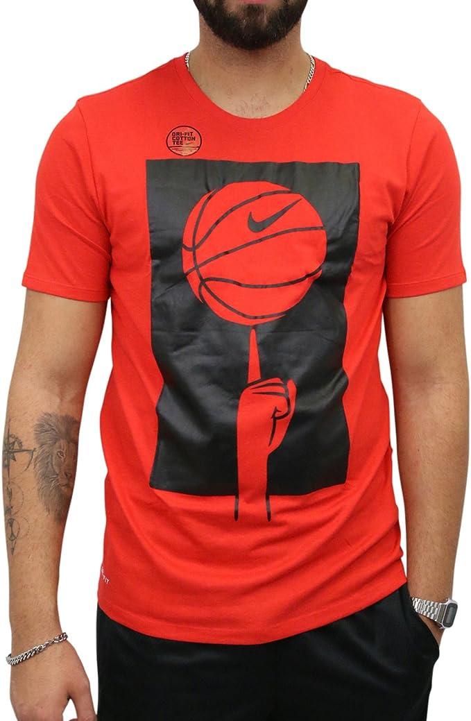 Nike Dry algodón/poliéster – Camiseta de baloncesto, Rot ...