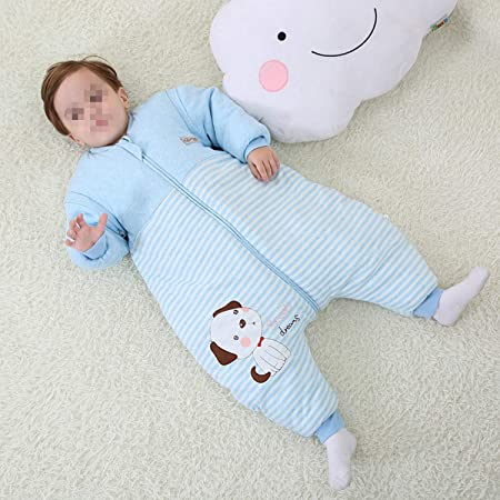 Amazon.com: AIBAB Baby Thicken Cotton Keep Warm Split Leg Sleeping ...