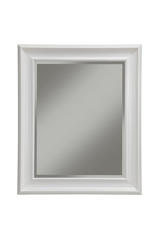 Amazon.com: Sandberg Furniture 13017 White Wall Mirror White,36 X 30 ...