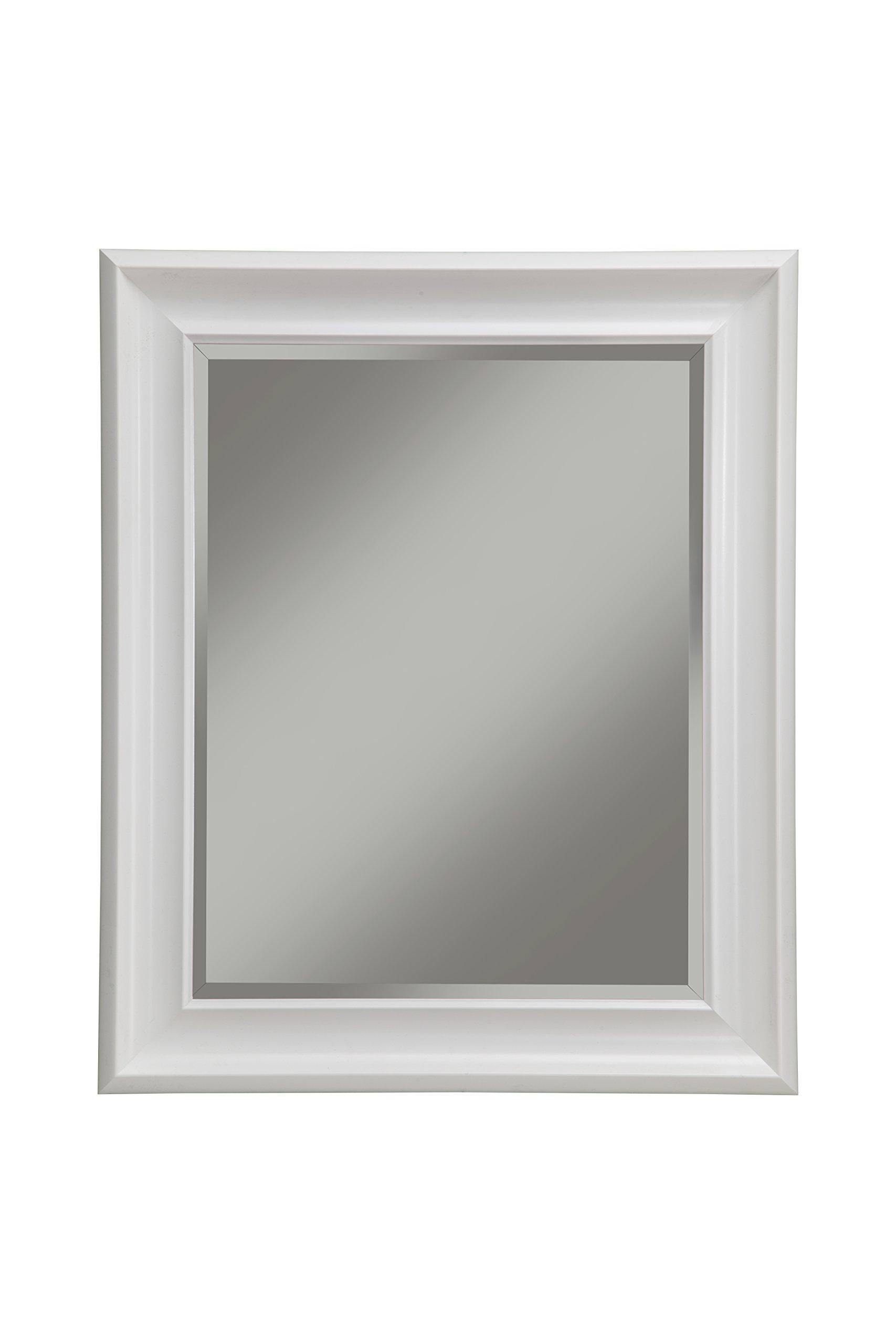 Sandberg Furniture 13017 Wall Mirror, 36'' x 30'', White