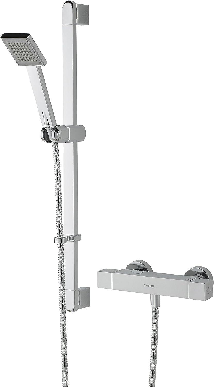 Bristan QD SHXSMFF C Quadrato Exposed Bar Shower with Riser Kit