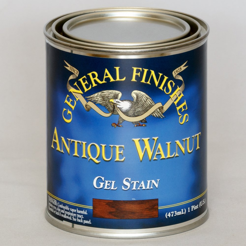 Gel stains oil based saah furniture - General Finishes Antique Walnut Gel Stain Pint Water Based Household Wood Stains Amazon Com