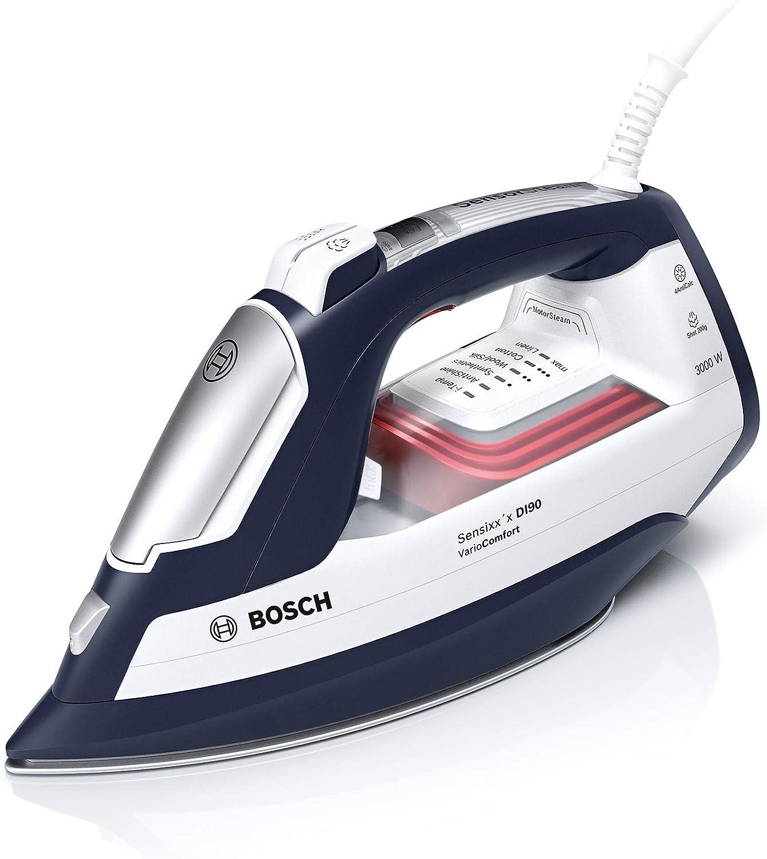Bosch Hogar Sensixx'x DI90 Generador Compacto (3000 W, 200 g de Vapor y Base CeraniumGlissée), plástico, Azul y Blanco