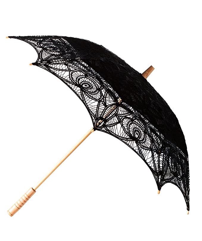 Vintage Style Parasols and Umbrellas The 1 for Vintage Batternburg Lace Parasol 8 Colors $34.99 AT vintagedancer.com