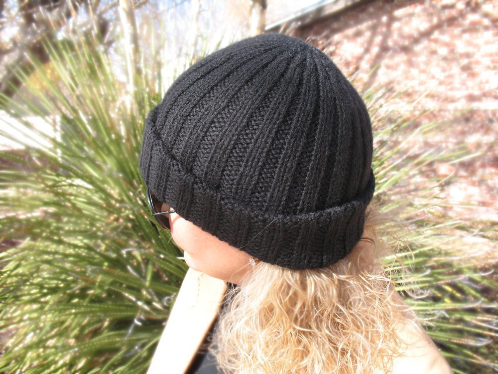 def693d4804 Amazon.com  Watchman s Cap Knitted Beanie Hat Knit Wool Hat Girls Boys Hat  Ladies Men Unisex Hat Made in USA Free Shipping  Handmade