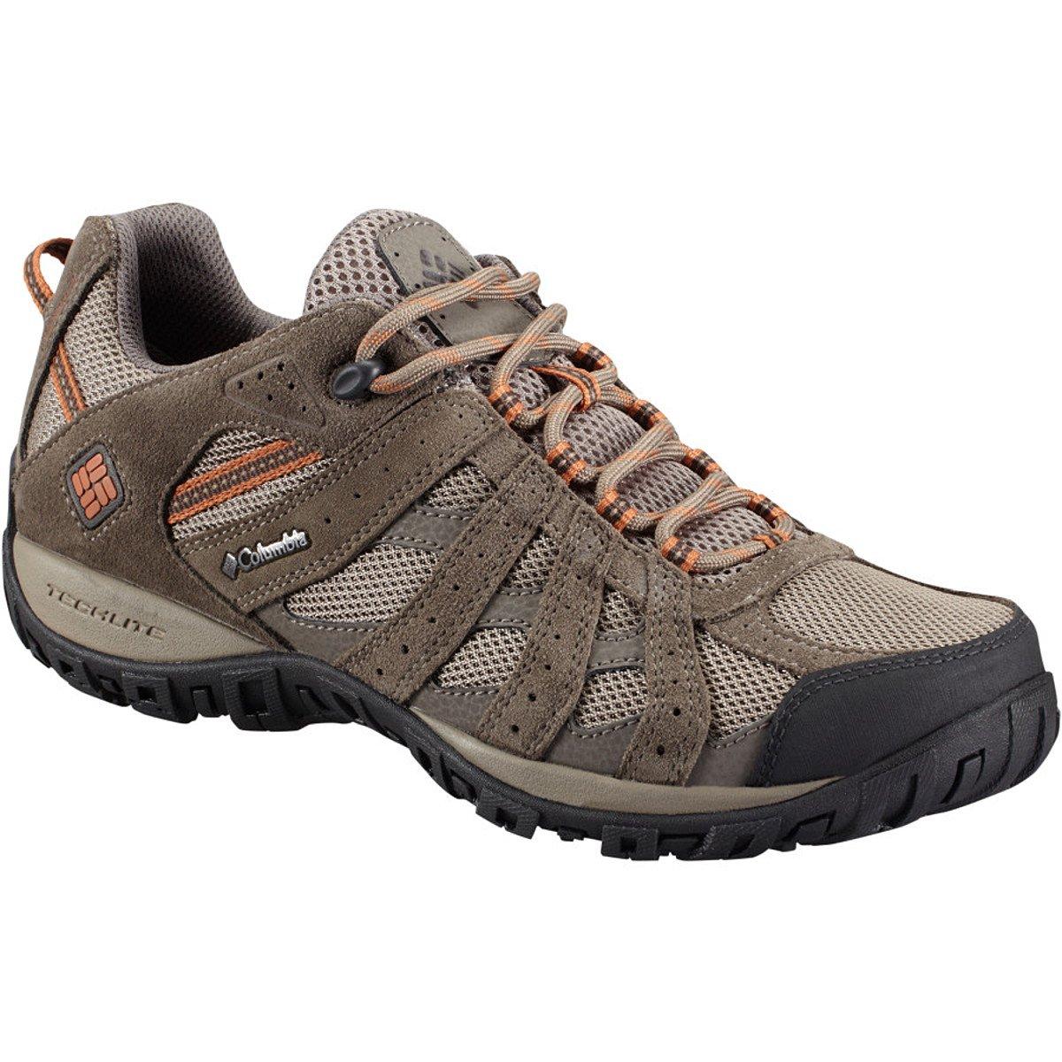Columbia Men's Redmond Waterproof Hiking Shoe, Pebble, Dark Ginger, 13 D US by Columbia