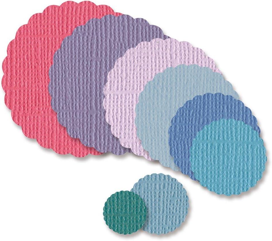 Vaessen Creative Stanzformen kreisf/örmige Muscheln f/ür die Stanzmaschine 11 x 11 x 0.1 cm Grey Metal