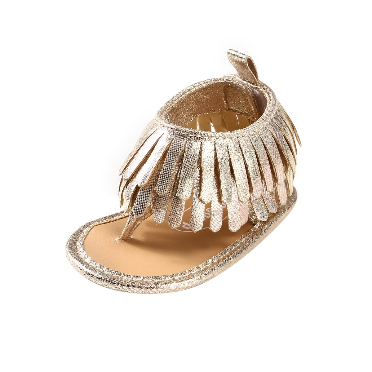 BENHERO Infant Baby Girls Summer Shoes Bling Tassel Soft Sole Prewalker Flip-Flops Sandals