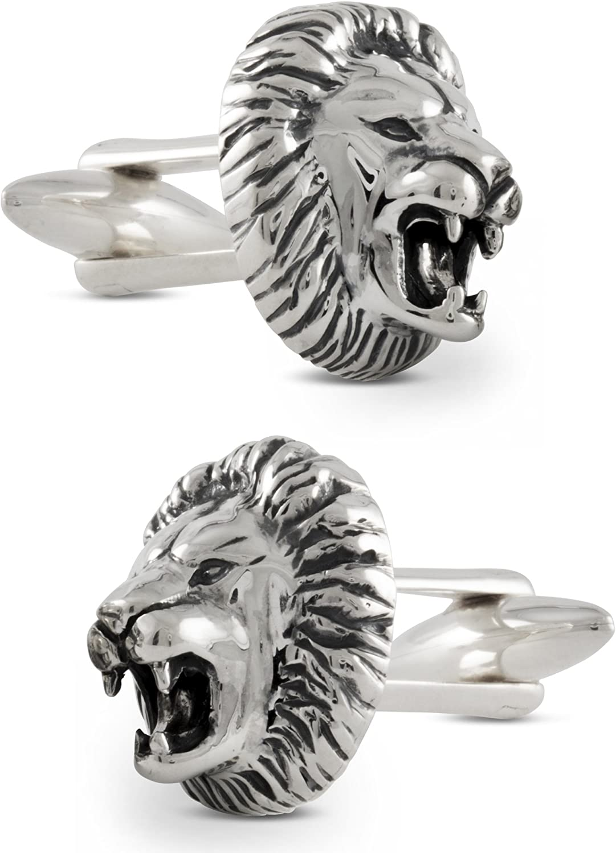 ZAUNICK Lion Cufflinks Sterling Silver Handcrafted