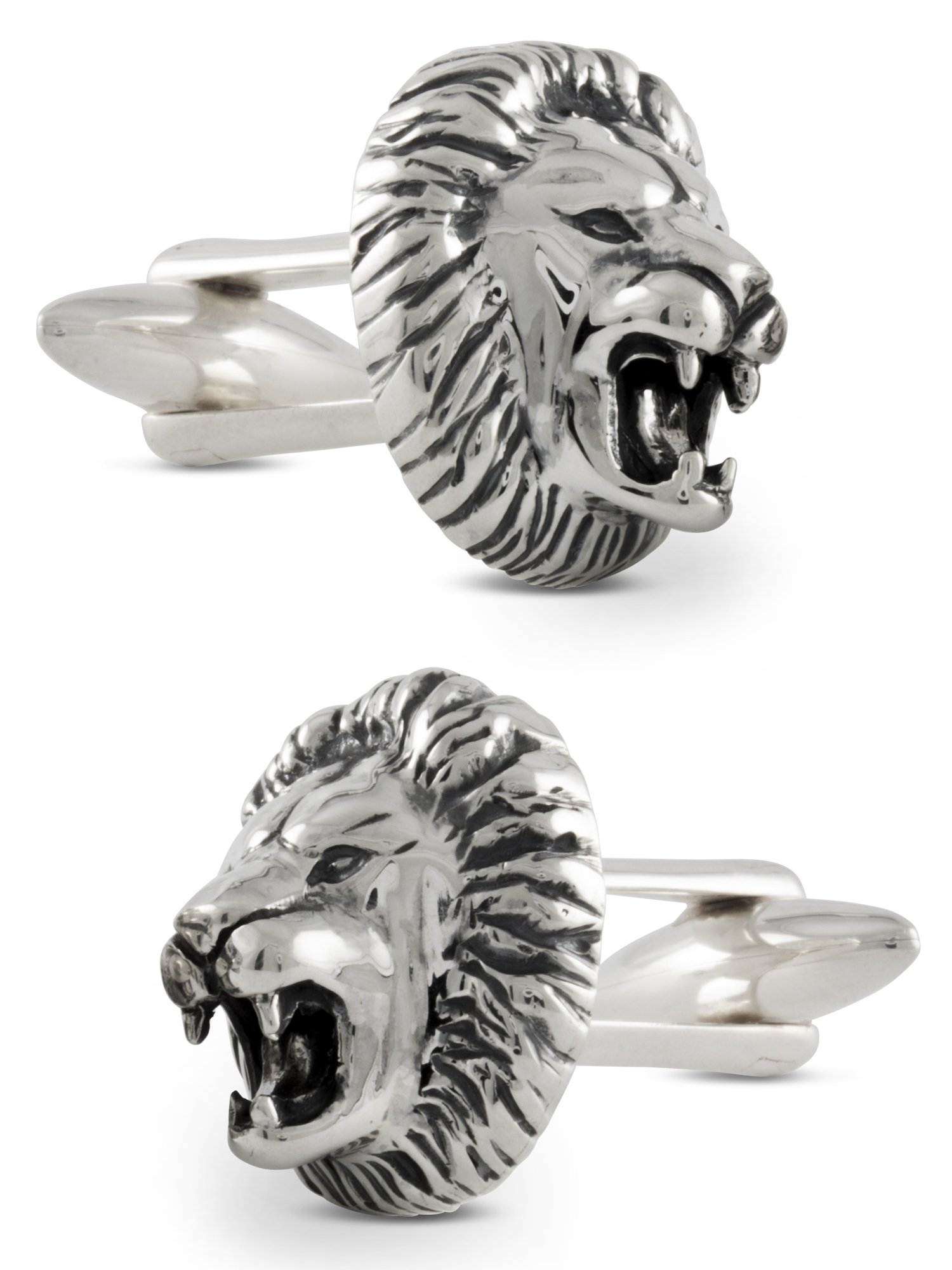 ZAUNICK Lion Cufflinks Sterling Silver