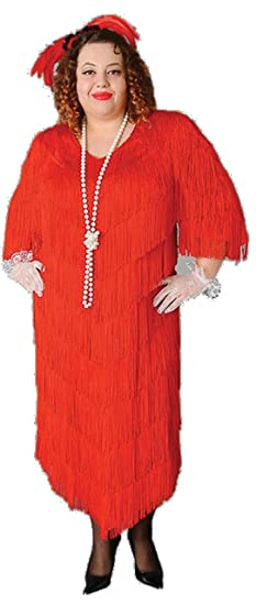 1920s Plus Size Flapper Dresses, Gatsby Dresses, Flapper Costumes Deluxe Plus Size Roaring 20s Flapper Theatrical Quality Costume $319.99 AT vintagedancer.com