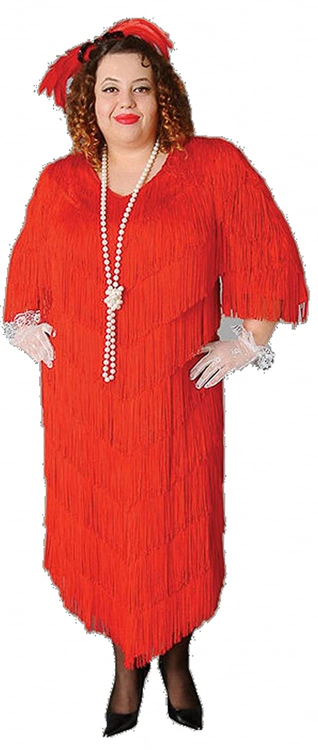 5f289f8095b Amazon.com  Deluxe Plus Size Roaring 20 s Flapper Theatrical Quality Costume