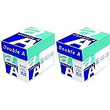 10 Ramettes (2 Pack) Double A Premium - Papier à Imprimer Blanc (format A4, 80 g / m², 5000 feuilles)