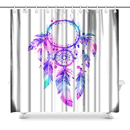 Image Unavailable Not Available For Color InterestPrint Dreamcatcher Bathroom Shower Curtain