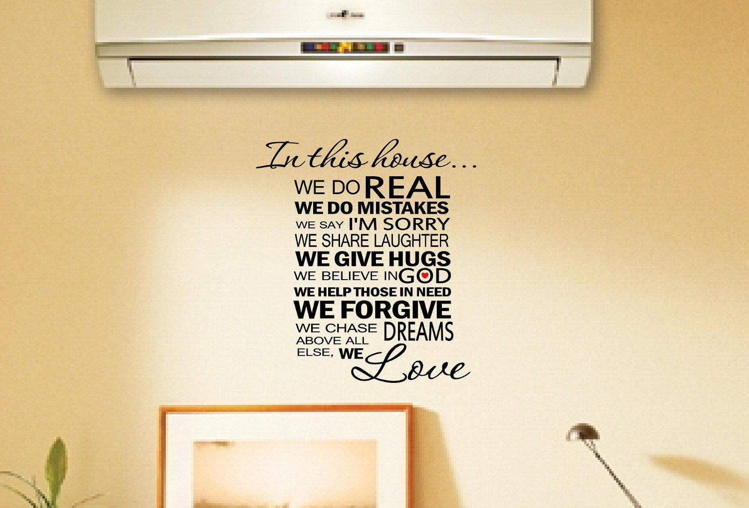Amazon.com: Newsee Decals In this house...we are real we make ...