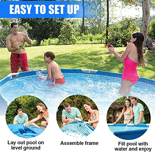 Lovinouse 10 Foot x 30 Inch Above Ground Swimming Pool, Family Round Frame Pools for Yard, Outdoor Summer Fun 10ft x 30 inch
