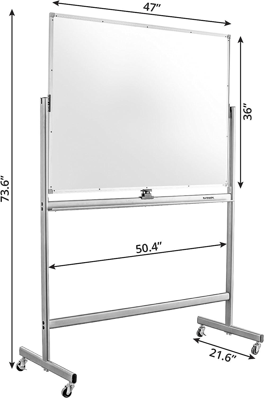 h/öhenverstellbar /& neigbar hjh OFFICE 830023 2in1 Flipchart MULTIBOARD 93,5 x 63 cm Mobiles Whiteboard mit St/änder Silber