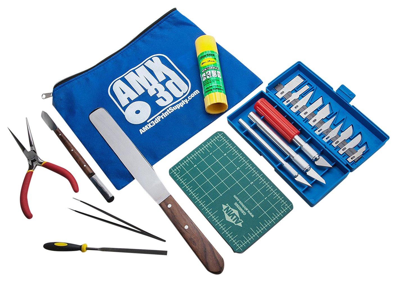 Print like a Pro AMX3d AMX3d-25 Piece Tool Kit 25 Piece 3D Printer Tool Kit All the 3D Printing Tools needed to clean /& finish 3D Prints