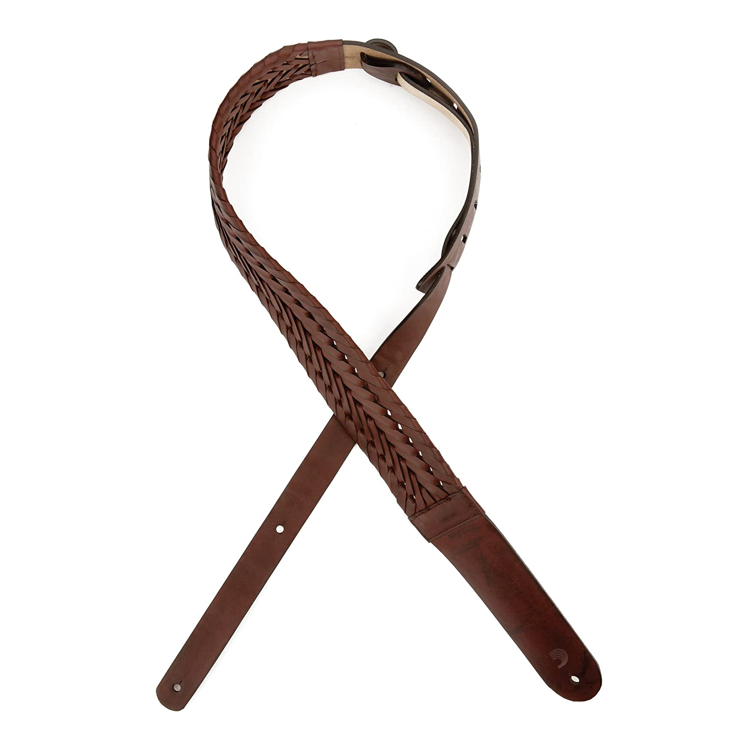 Planet Waves by D'Addario プラネットウェーブス ギターストラップ Madison Collection Braided Leather Guitar Strap L25S1501 Brown 【国内正規品】   B00WGD4MKS