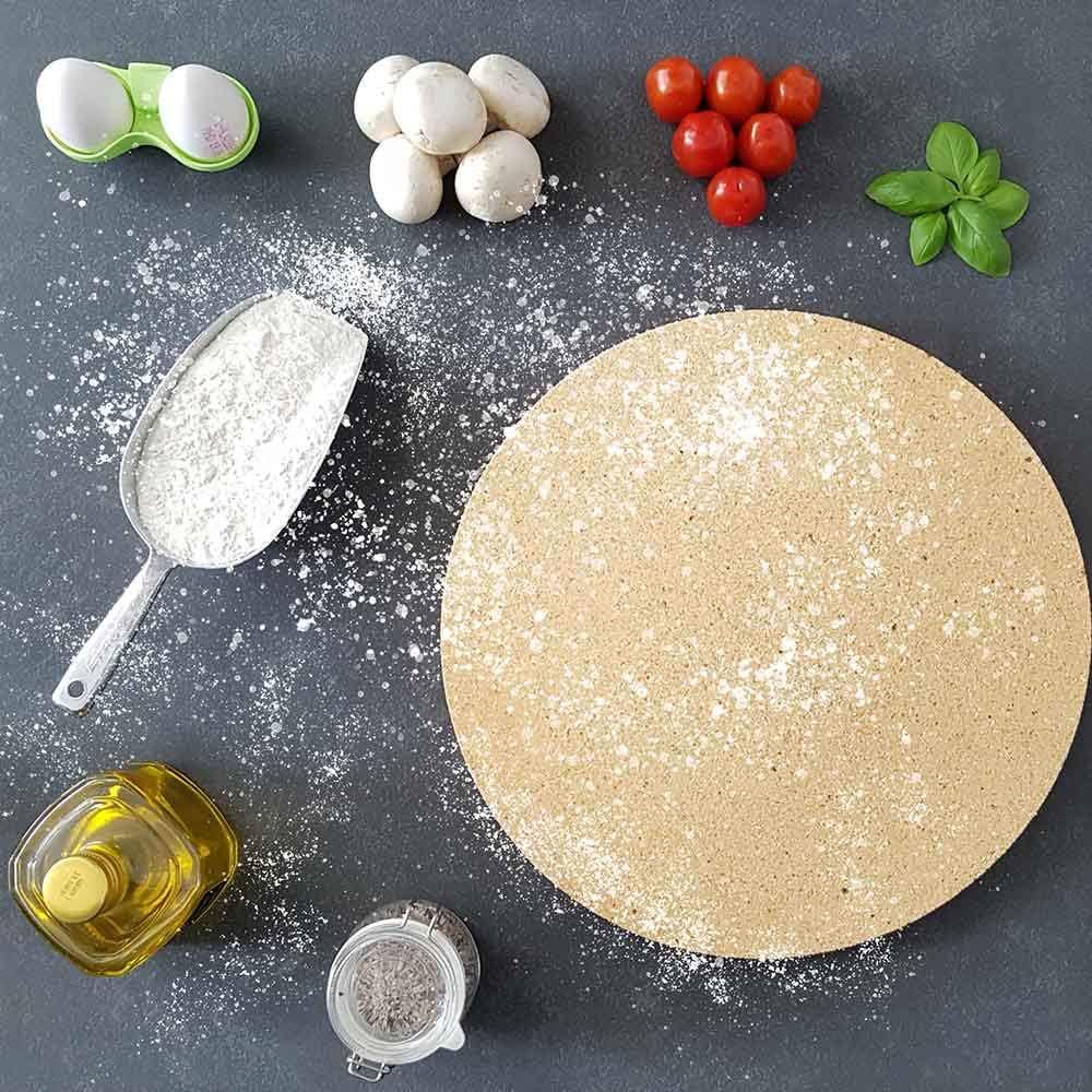 PUR Schamotte Pizzastein rund /Ø 190x30mm
