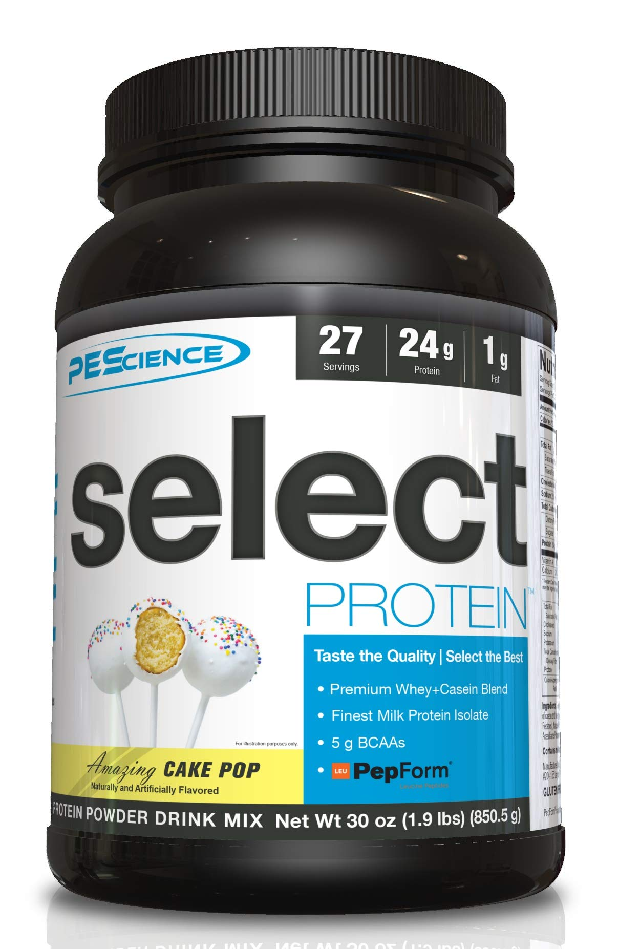 PEScience Select Protein Powder, Cake Pop, 27 Serving, Whey and Casein Blend by PEScience