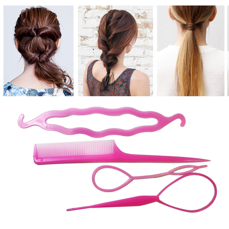2X Haar Twister Hair Schwamm Schwarz Frisurenhilfe Band GY
