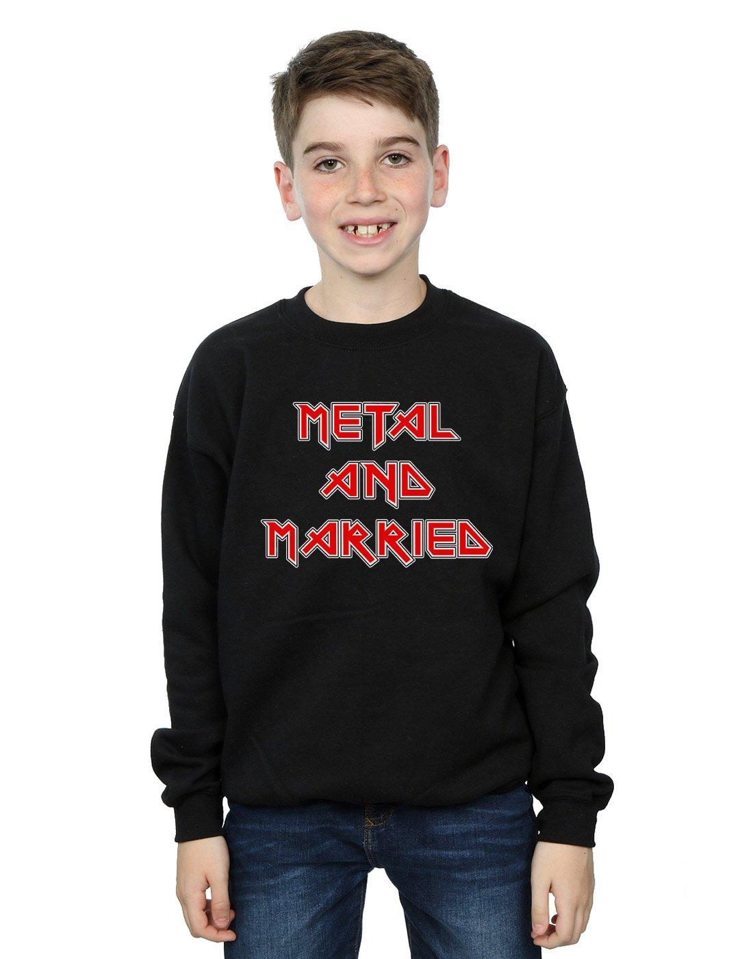 Absolute Cult Drewbacca Boys Metal and Married Sweatshirt Black 9-11 Years