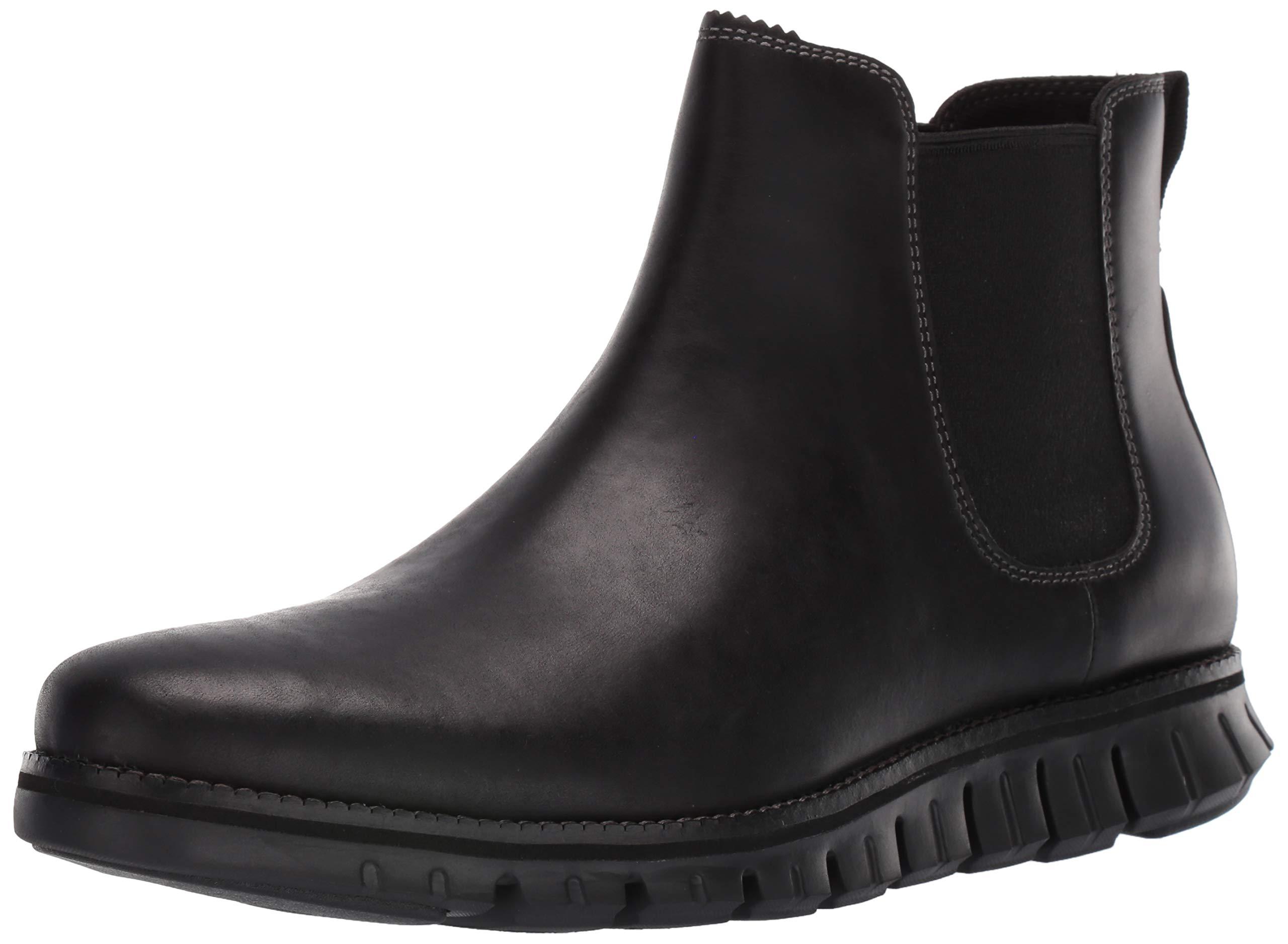 Cole Haan Men's Zerogrand Chelsea Waterproof Boot, Wp Black Leather, 10 M US by Cole Haan