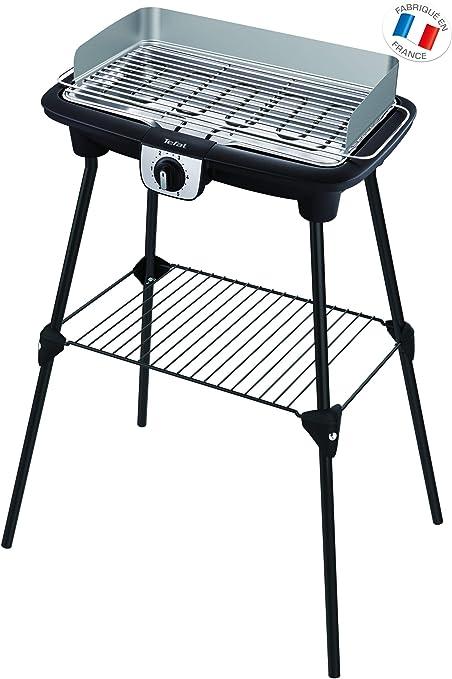 Tefal BG921812 Barbecue BBQ Électrique sur Pieds et Table Easy Grill XXL Thermostat Réglable 2500W