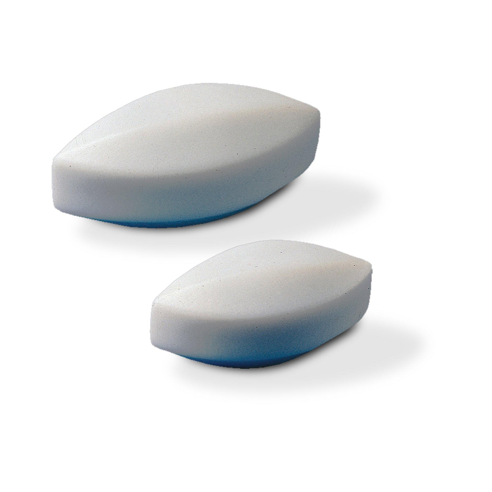 Bel-Art Spinbar Teflon Elliptical (Egg-Shaped) Magnetic Stirring Bar; 25.4 x 12.7mm, White (F37130-0001)