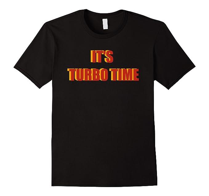 Mens Turboman Time Fun XMas Holiday Gift TShirt for Movie lovers 2XL Black