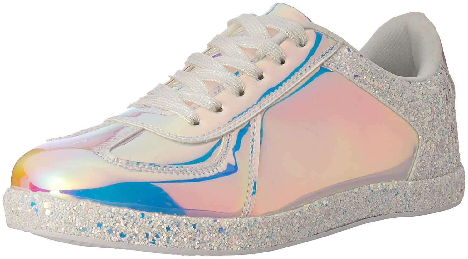 Qupid Women's Sneaker B079FVBB7P 10 B(M) US|White Hologram