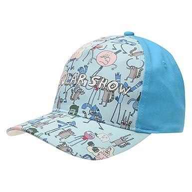 Character Kids Boys Snapback Junior Flat Peak Cap Cotton Breathability  Flexible Regular Show Junior b61f506d20