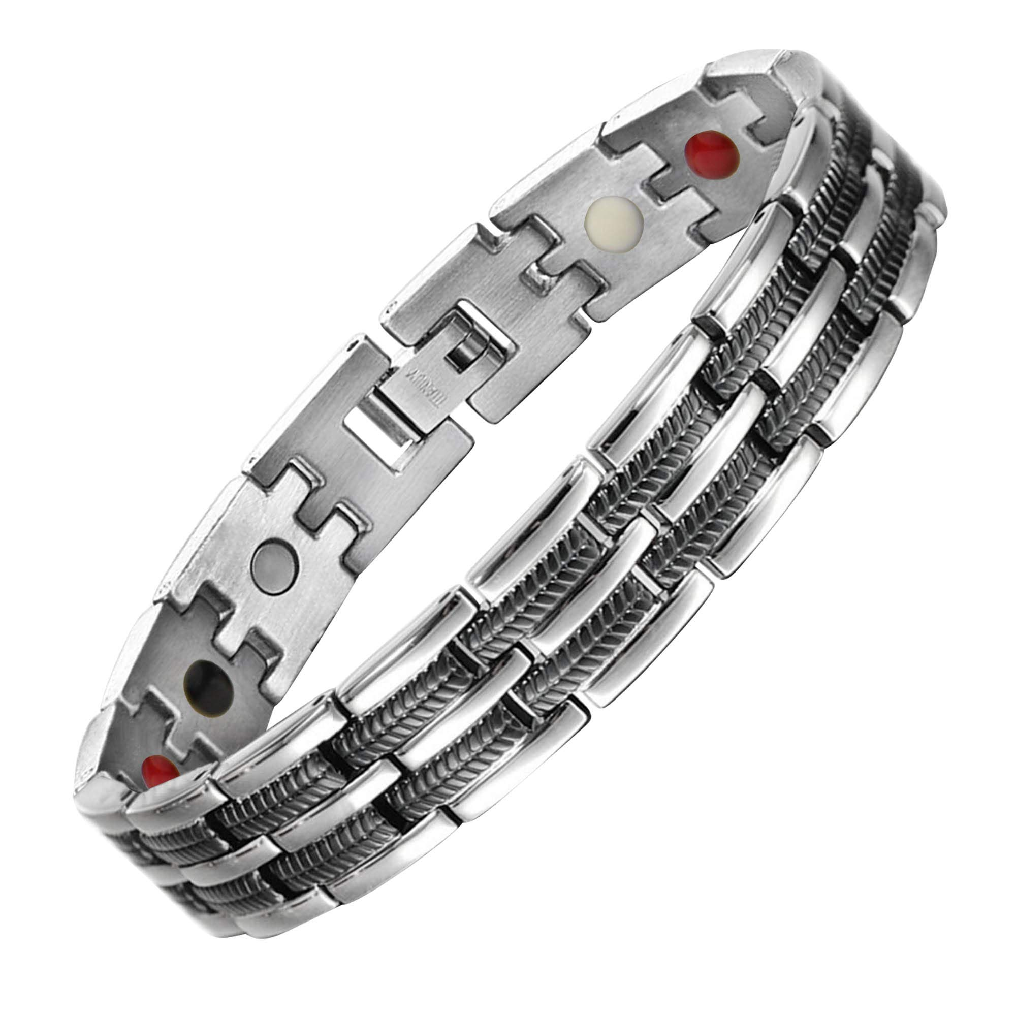 Titanium Bracelet for Men with Magnetic Therapy For Arthritis And Golfer Adjustable size to Fit Your Wrist