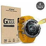 AKWOX [4 Unidades] Protector de Pantalla para Suunto Spartan Trainer Wrist HR, [9H Dureza] Cristal Vidrio Templado - NO para Suunto Spartan Sport Wrist HR
