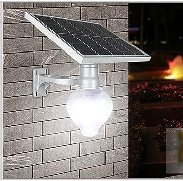 Luces Solares LED Lámpara De Pared IP65 Impermeable Control De Luz Automático Luz De La Calle Solar Exterior para Jardín/Patio/Terraza/Inicio/Camino/Escalera Exterior: Amazon.es: Deportes y aire libre