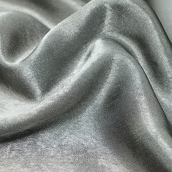 اللمسة المخملية قماش نسائي , لون - رمادي