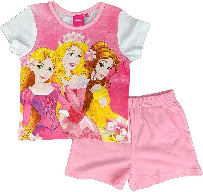 Pijama para niña, diseño de Princesas Disney, Camiseta y ...