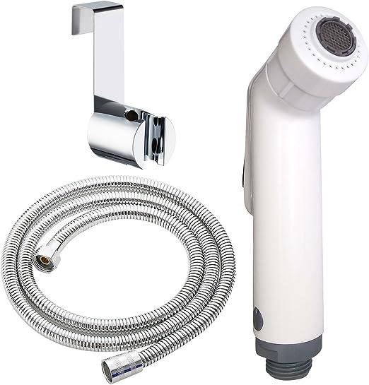 Bidet Toilet Sprayer Bathroom Sprayer with Hose Stainless Steel Spray Easy Install Diaper Sprayer with Adjustable Pressure Control for Bathing Pets Personal Hygiene