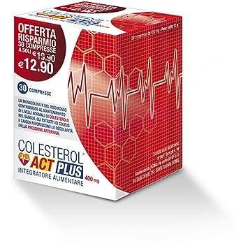 Colesterol Act Plus 30Cpr 400Mg: Amazon.es: Salud y cuidado ...