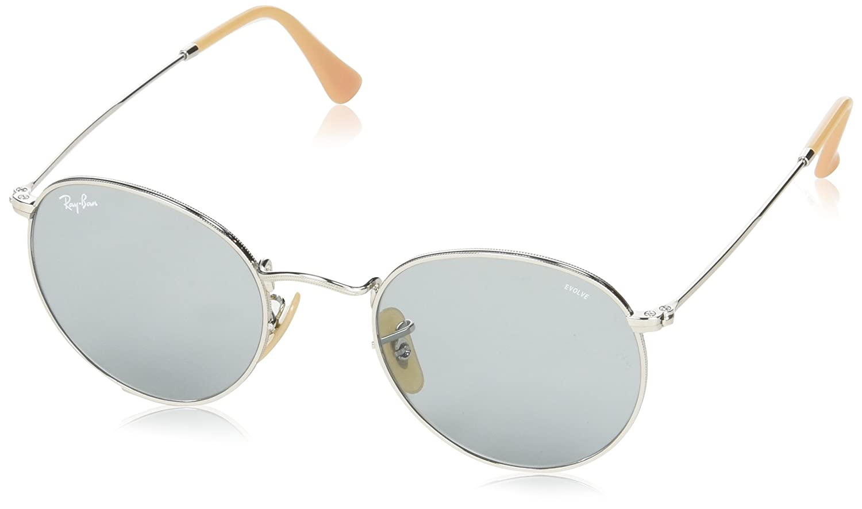 b6d3e2d57 Amazon.com: Ray-Ban Men's Round Metal Sunglasses, Silver, 50 mm: Clothing