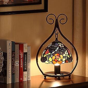 Mic Fonly Lámpara De Mesa LED Amarillo 5W Pantalla De Vidrio ...